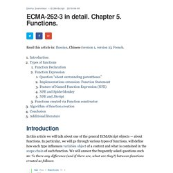ECMA-262-3 in detail. Chapter 5. Functions.
