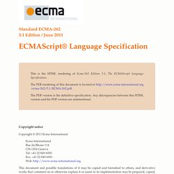 ECMAScript Language Specification - ECMA-262 Edition 5.1