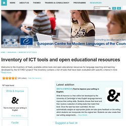 Resources > Inventory of ICT tools
