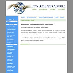 Eco Business Angels » Les Eco Business Angels