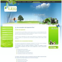 Eco-conception des logements Eloa