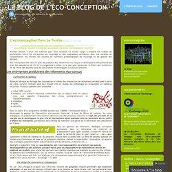 L'éco-conception dans le textile