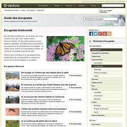 Éco-gestes biodiversité