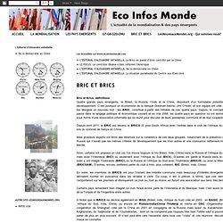 Eco Infos Monde.com: BRIC ET BRICS