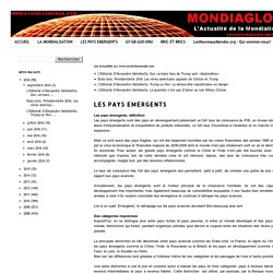 Eco Infos Monde.com: LES PAYS EMERGENTS
