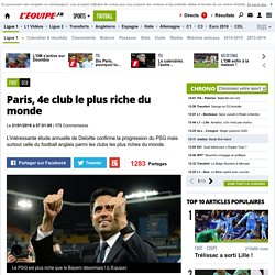 Eco - Paris, 4e club le plus riche du monde