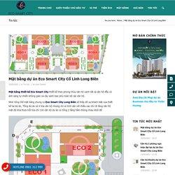 Mặt bằng dự án Eco Smart City Cổ Linh Long Biên