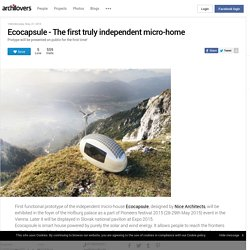 Ecocapsule - The first truly independent micro-home