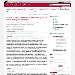 Evaluación de la seguridad de la ecocardiografía de estrés en España y Portugal