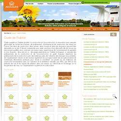 Guide de l'habitat durable, informations fiables,utiles