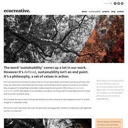 Ecocreative. sustainability - Ecocreative.