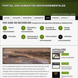 Écocritique - Portail des Humanités environnementales