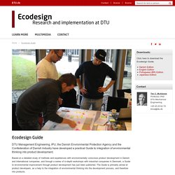 Ecodesign Guide - Ecodesign research and implementation at DTU