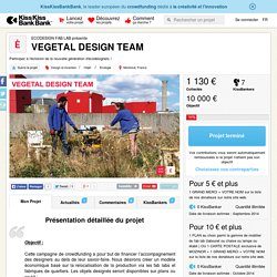 VEGETAL DESIGN TEAM présenté par ECODESIGN FAB LAB