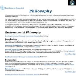 Deep Ecology, Ecofeminism, Pantheism, Taoism, Agnosticism