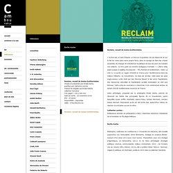 Reclaim, recueil de textes écoféministes - Editions Cambourakis