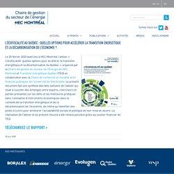 L'écofiscalité au Québec : quelles options pour accélérer la transition énergétique et la décarbonisation de l'économie ? – Chaire de gestion du secteur de l'énergie