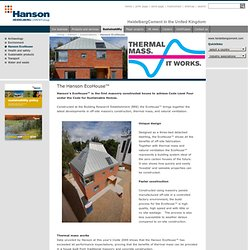 The Hanson EcoHouse™ - Hanson - HeidelbergCement in the United Kingdom