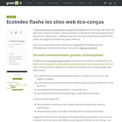 Ecoindex flashe les sites web éco-conçus - Green IT