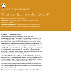 The Pittsburgh EcoInnovation District: Uptown and Oakland