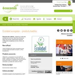 Ecolabel européen - produits textiles