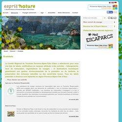 Ecolabels - Ecotourisme PACA