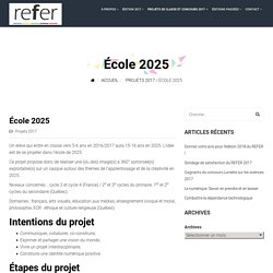 École 2025 – REFER