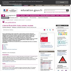L'état de l'École : 32 indicateurs sur le système éducatif français