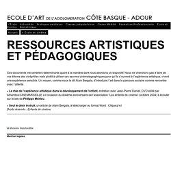 - Ecole d'art de l'Agglomération Côte Basque - Adour