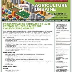 École d'agriculture urbaine - du 12 au 16 août 2013