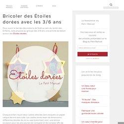 """""""A l'école"""" : Bricoler des Étoiles dorées avec les 3/6 ans"""