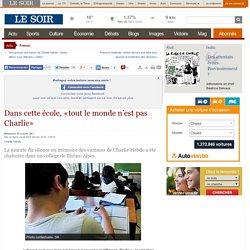 Dans cette école, «tout le monde n'est pas Charlie»