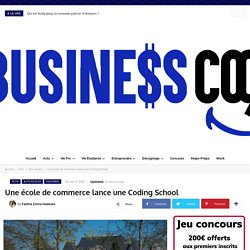 Une école de commerce lance une Coding School
