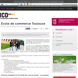 Ecole de commerce Toulouse - ICD
