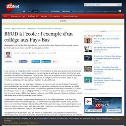 BYOD à l'école : l'exemple d'un collège aux Pays-Bas - ZDNet