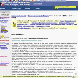 Ecole en France