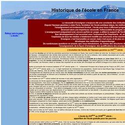 Ecole en France-historique