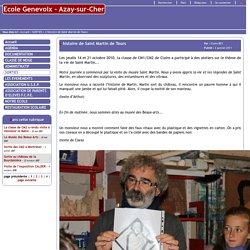 Ecole Genevoix - Azay-sur-Cher - L'histoire de Saint Martin de Tours