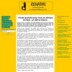 L'école gratuite pour tous en Afrique du Sud: un défi à relever