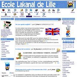 l'école Lakanal de Lille en ligne - Nouvelles