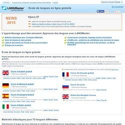 Ecole de langues en ligne gratuite
