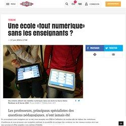 Une école «tout numérique» sanslesenseignants?