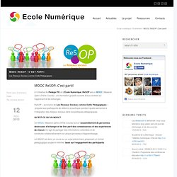 MOOC ReSOP: C'est parti!