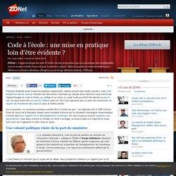 Code à l'école : une mise en pratique loin d'être évidente ? - ZDNet