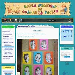 le site de l'école de Quieux - Nos chefs d'œuvres - Le portrait