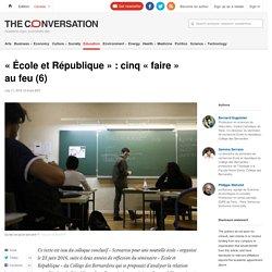 «École et République»: cinq «faire» aufeu(6)