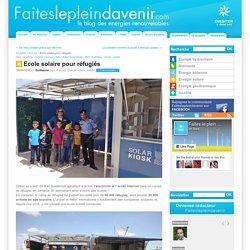 Ecole solaire pour réfugiés