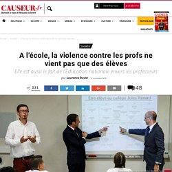 A l'école, la violence contre les profs ne vient pas que des élèves