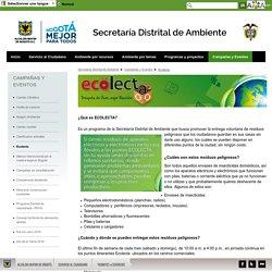 Ecolecta - Secretaria Distrital de Ambiente