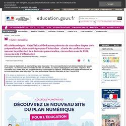 #EcoleNumérique : Najat Vallaud-Belkacem présente de nouvelles étapes de la préparation du plan numérique pour l'éducation
